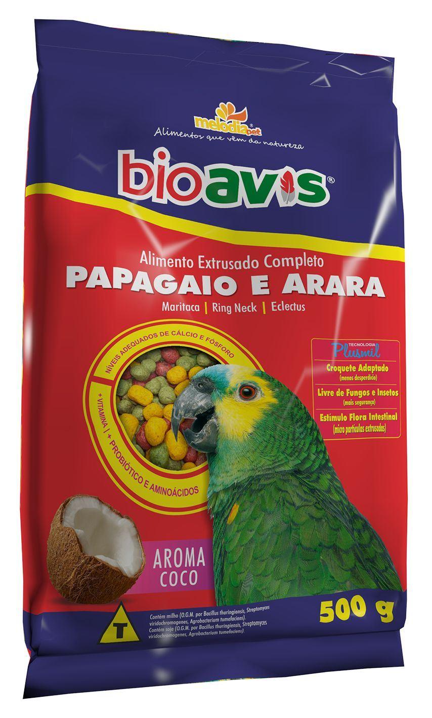 BIOAVIS PAPAGAIO E ARARA       500g