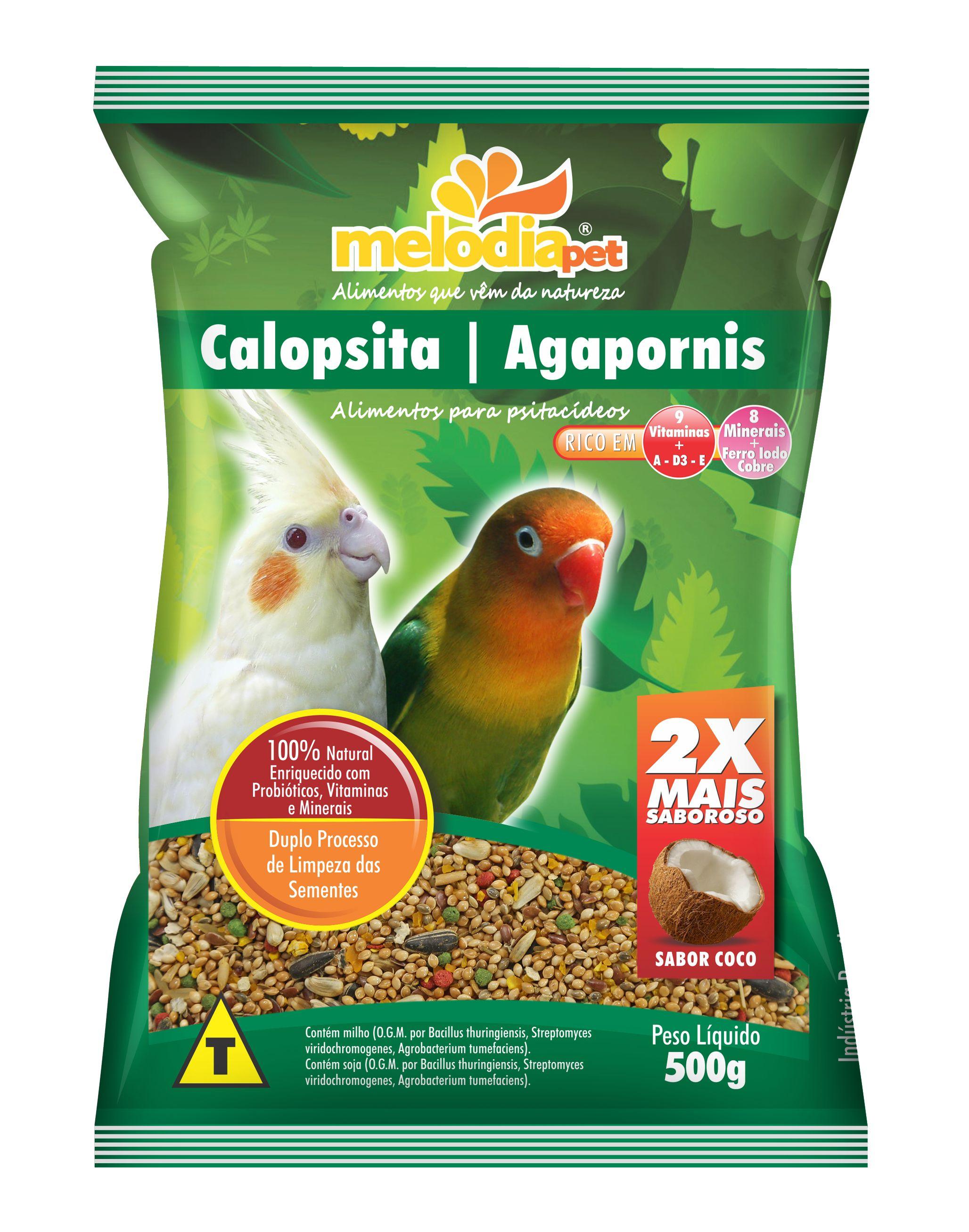 ALIMENTO P/CALOPSITA/AGAPORNIS.500g