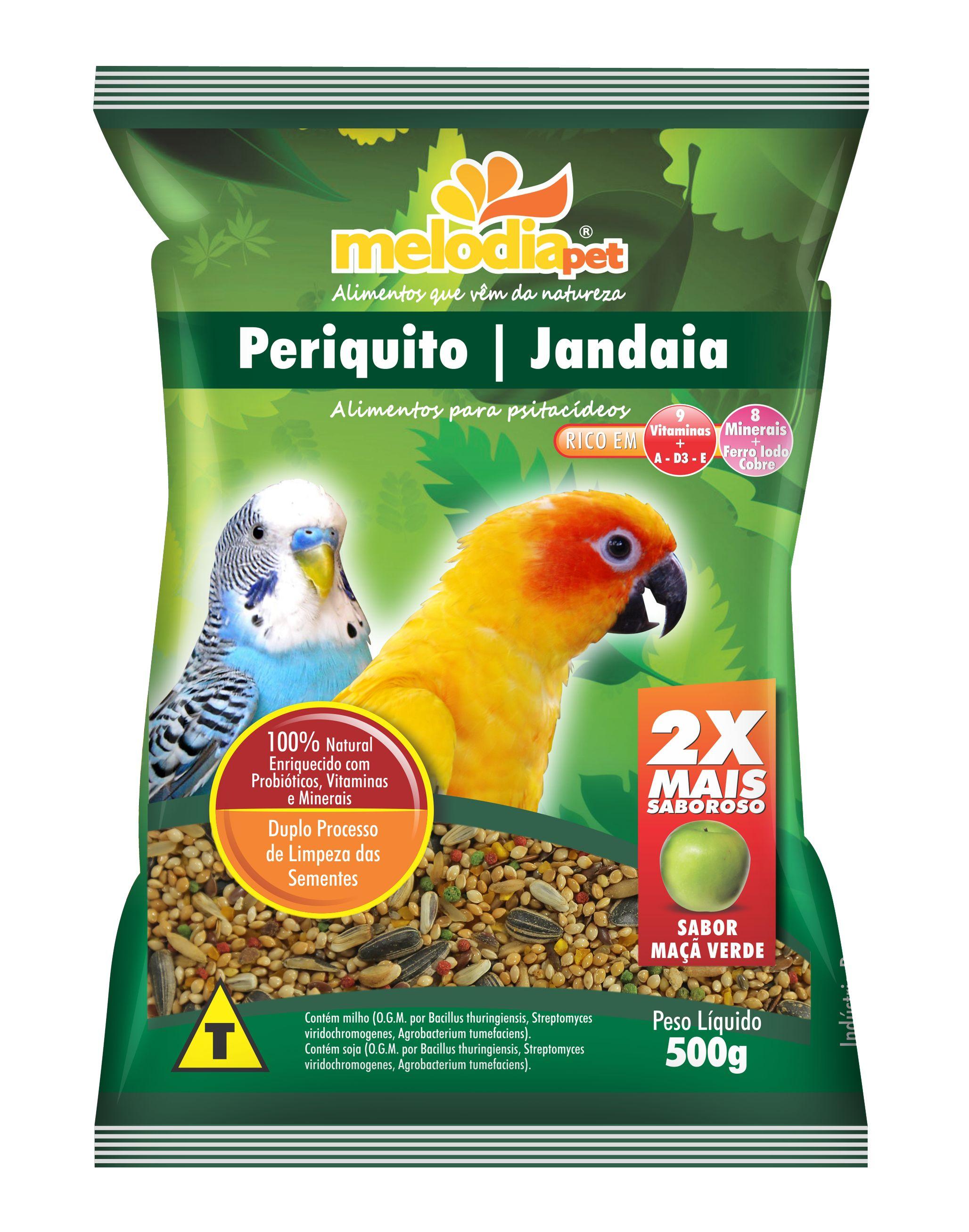 ALIMENTO P/PERIQUITO/JANDAIA...500g